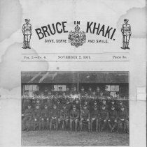 Image of Bruce in Khaki, Vol. 1, No. 1, Nov. 2, 1917, cover page