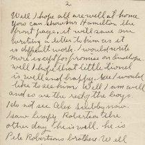 Image of Tranter letter April 14, 1914 p. 2