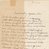 Image of Tranter letter April 14, 1914 p. 1