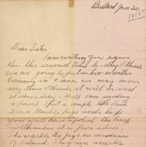 Image of Tranter letter January 30, 1915