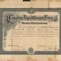Image of C.E.F. Death Certificate of William Victor Tranter