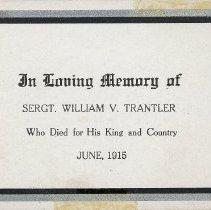 Image of W.V. Tranter Memoriam Card p. 2
