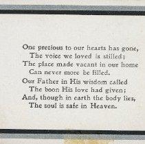 Image of W.V. Tranter Memoriam Card p. 3