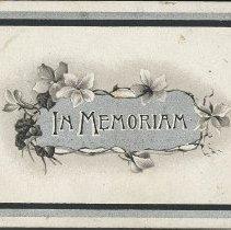 Image of W.V. Tranter Memoriam card p. 1
