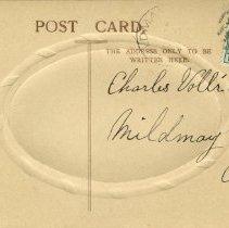 Image of Back of Christmas postcard to Charles Vollick [190-]