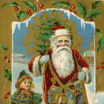 Image of A Merry Christmas postcard to Charles Vollick , 1913