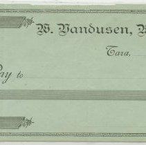 Image of W Vandusen Blank Cheque