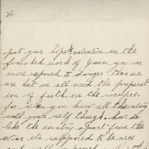 Image of Hector McLean Leter to Ernest Cunningham, p. 6