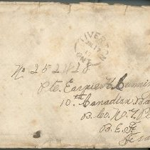 Image of Hector McLean Leter to Ernest Cunningham front of envelope