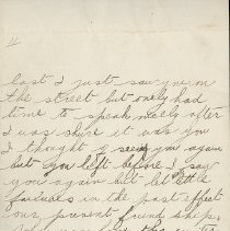 Image of Hector McLean Leter to Ernest Cunningham, p. 2