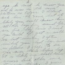 Image of Letter to Ernie Cunningham from Jim Thompson, July 23 1917 - p. 2