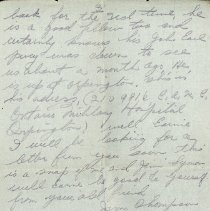 Image of Letter to Ernie Cunningham from Jim Thompson, July 23 1917 - p. 3