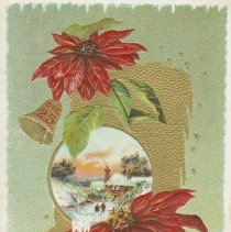 Image of Christmas postcard to Mr. Vollick from Webster Curle