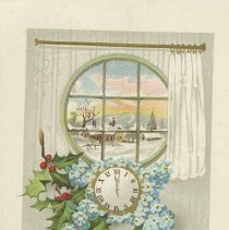 Image of Happy New Year postcard  to Charles Vollick, front