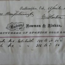 Image of Bowman & Zinkan Tannery invoice, 1881, to Roos Mfg Co., Walkerton