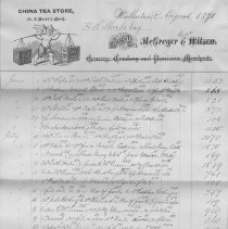 Image of McGregor Bros Invoice from Roos Mfg Co. Invoice Book, Walkerton