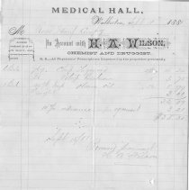 Image of H.A. Willson, Medical Hall, Walkerton, invoice to Roos Mfg Co.
