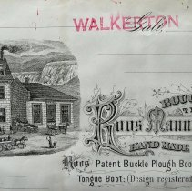Image of Roos Manufacturing Invoice Letterhead, Walkerton, 1881