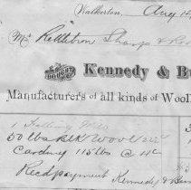 Image of Kennedy & Bunston Invoice, from Roos Manufacturing Co. Invoice Book