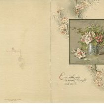 "Image of A961.005.004 - ""Ever with you in kindly thought"" card from Alexander Emerson Belcher"