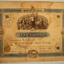 Image of R.J. Cameron - Kinloss Agricultural Society Diploma for Pump