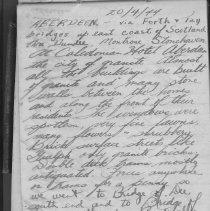 Image of A2013.028.005 - F/O R.G. Freeman travel journal