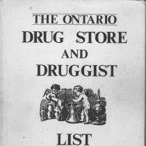 Image of A2014.045.001 - The Ontario drug store and druggist list (1851-1930)