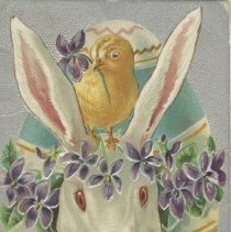 Image of Easter greetings, postcard front