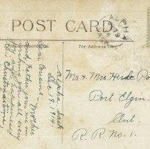 Image of Christmas greetings, postcard back