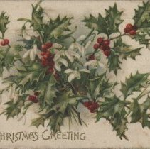 Image of A Christmas greeting, postcard front