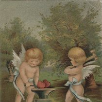 Image of A2005.015.061 - I saw two cupids in leafy bowers ...