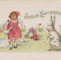 Image of Joyous Eastertide, postcard front