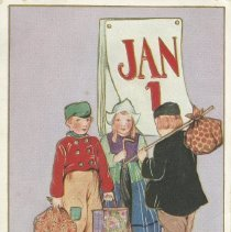 Image of Happiness and good luck through all the New Year, postcard front