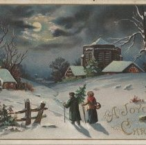 Image of A joyous Christmas, postcard front