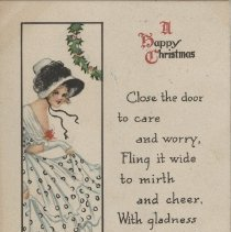 Image of A Happy Christmas, postcard front