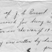 """Image of Note accompanying """"Reminiscences, J.S. Russell"""""""