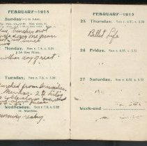 Image of Page beginning with entry 1915-02-21, William Victor Tranter diary