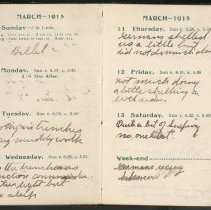 Image of Page beginning with entry 1915-03-07, William Victor Tranter diary