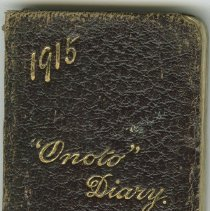 Image of Front cover, William Victor Tranter diary