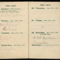 Image of Page beginning with entry 1915-05-16, William Victor Tranter diary