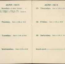 Image of Page beginning with entry 1915-06-10, William Victor Tranter diary