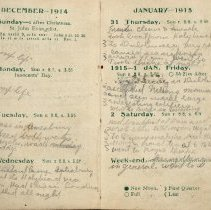 Image of Page beginning with entry 1914-12-27, William Victor Tranter diary