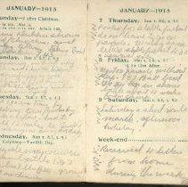 Image of Page beginning with entry 1915-01-03, William Victor Tranter diary