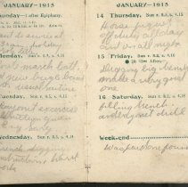 Image of Page beginning with entry 1915-01-10, William Victor Tranter diary