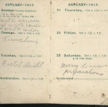 Image of Page beginning with entry 1915-01-17, William Victor Tranter diary