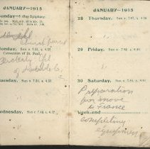 Image of Page beginning wtih entry 1915-01-24, William Victor Tranter diary