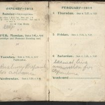Image of Page beginning with entry 1915-01-31, William Victor Tranter diary