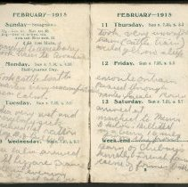 Image of Page beginning with entry 1915-02-07, William Victor Tranter diary