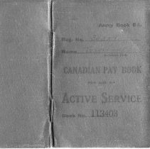Image of A976.007.004 P01 - Edgar Teahan Canadian Pay Book 113403
