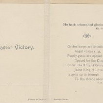 Image of A994.058.014b - Easter Blessings card, ca. 1916 (inside)